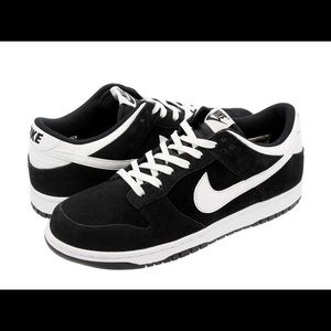 Nike Dunk Low Black White 904234-001 Suede size 8